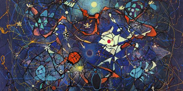 郭東榮,《世界在變No.75》部份截圖,油彩,200F,2013 國立台灣美術館於即日起至5月18日展出「世界在變」郭東榮油畫展,展出台灣五月畫會創始人郭東榮1955至2013年間的創作,展覽規劃以「希望與和平」、「向宇宙挑戰」、「世界在變」三大主題,表現畫家風格多變、抽象與寫實並行的創作歷程。此次共展示57件作品,包含郭東榮1955年至今的代表作、2007年以前的《宇宙》系列抽象畫作、2009年開始的抽象畫《世界在變》系列,及其精彩的素描手稿等。 郭東榮1927年出生於台灣嘉義,1955年以第一名的成績