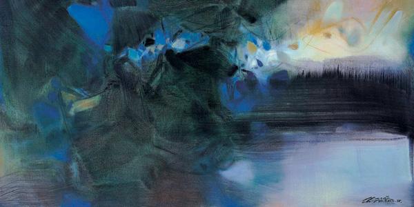 朱德群,20世纪华裔抽象画最具代表性的大师之一,今年三月底於法国