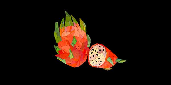 【色彩教室】色彩创意磁铁墙—「火龙果」(学学色彩师资作品 )图片